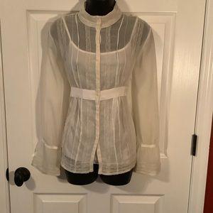Motherhood Maternity lace long sleeve blouse